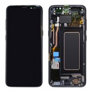 Original Samsung LCD and Digitizer Touch Screen for Samsung Galaxy S8 G950 - Black (GH97-20457A)
