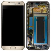 Original Samsung LCD and Digitizer Touch Screen for Samsung Galaxy S7 G935 - Gold (GH97-18533C)