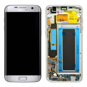 Original Samsung LCD and Digitizer Touch Screen for Samsung Galaxy S7 G935 - Silver (GH97-18533B)