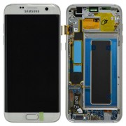Original Samsung LCD and Digitizer Touch Screen for Samsung Galaxy S7 G935 - White (GH97-18533D)