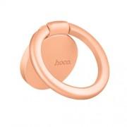 HOCO PH7 Μεταλλικό Δαχτυλίδι που Είναι Βάση Στήριξης και Βάση Κρατήματος για Κινητά και Tablets - Ροζέ Χρυσαφί