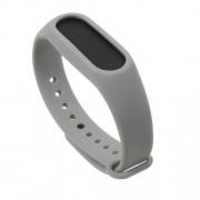 Flexible TPU Wristband Replacement for Xiaomi Mi Band 2 - Grey
