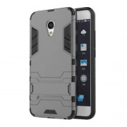 Cool Guard Hybrid Plastic + TPU Case with Kickstand for Meizu MX6 - Grey