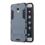 Cool Plastic + TPU Shell Case Dual Guard for Meizu MX6 - Dark Blue