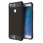 Armor Guard Plastic + TPU Hybrid Cell Phone Back Case for Xiaomi Mi Max 2 - Black