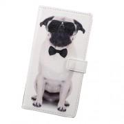 Δερμάτινη Θήκη Πορτοφόλι με Βάση Στήριξης για Xiaomi Redmi Note 4X - Σκύλος με Γυαλιά