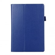 Litchi Texture 2-fold Stand Leather Case for Lenovo TAB 2 A10-70 - Dark Blue