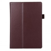 Litchi Texture 2-fold Stand Leather Case for Lenovo TAB 2 A10-70 - Brown