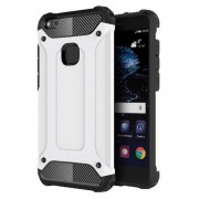 Tough Armor Υβριδική Θήκη Σιλικόνης TPU σε Συνδυαμό με Πλαστικό για Huawei P10 Lite - Λευκό