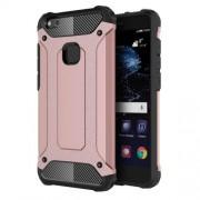Tough Armor Υβριδική Θήκη Σιλικόνης TPU σε Συνδυαμό με Πλαστικό για Huawei P10 Lite - Ροζέ Χρυσαφί