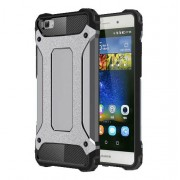 Armor Guard Plastic and TPU Hybrid Cover for Huawei Ascend P8 Lite - Grey