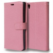 Crazy Horse Wallet Leather Magnetic Case for Sony Xperia Z5 Premium / Premium Dual - Pink