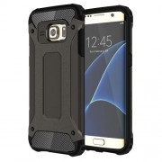 Tough Armor Υβριδική Θήκη Σιλικόνης TPU σε Συνδυαμό με Πλαστικό για Samsung Galaxy S7 Edge G935 - Καφεγκρί