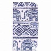 Δερμάτινη Θήκη Πορτοφόλι με Βάση Στήριξης για Samsung Galaxy J5 SM-J500F - Tribal Ελέφαντες