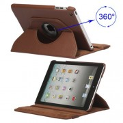 360 Degree Rotary Leather Case Cover for iPad Mini - Brown