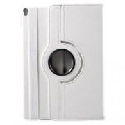 Litchi Grain 360 Swivel Stand Leather Cover Case for iPad Pro 10.5-inch (2017) - White
