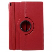 360 Rotary Stand Litchi Grain PU Leather Shell Case for iPad Pro 10.5-inch (2017) - Red