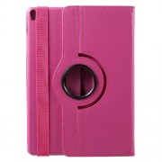 For iPad Pro 10.5-inch (2017) Litchi Grain Leather Case with 360 Rotation Stand - Rose