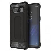 Armor Guard Plastic + TPU Hybrid Case for Samsung Galaxy Note 8 - Black