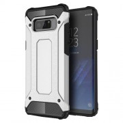 Armor Guard Plastic + TPU Hybrid Protective Cover for Samsung Galaxy Note 8 - Silver