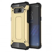 Armor Guard Plastic + TPU Hybrid Mobile Cover Shell for Samsung Galaxy Note 8 - Gold