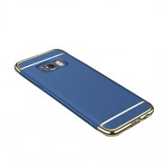 3-in-1 Electroplating PC Back Phone Cover for Samsung Galaxy Note 8 - Blue
