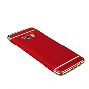 3-in-1 Electroplating PC Mobile Phone Shell for Samsung Galaxy Note 8 - Red