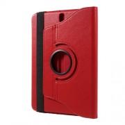 Περιστρεφόμενη Δερμάτινη Θήκη Βιβλίο με Βάση Στήριξης για Samsung Galaxy Tab S3 9.7 T820 - Κόκκινο