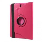 Περιστρεφόμενη Δερμάτινη Θήκη Βιβλίο με Βάση Στήριξης για Samsung Galaxy Tab S3 9.7 T820 - Φούξια