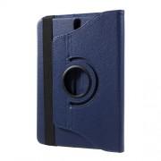 Περιστρεφόμενη Δερμάτινη Θήκη Βιβλίο με Βάση Στήριξης για Samsung Galaxy Tab S3 9.7 T820 - Σκούρο Μπλε