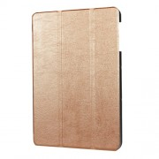 PU Leather Tri-fold Stand Case for Samsung Galaxy Tab S3 9.7-inch T820 - Gold