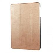 Δερμάτινη Θήκη Βιβλίο Tri Fold με Βάση Στήριξης για Samsung Galaxy Tab S3 9.7 T820 - Χρυσαφί
