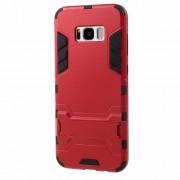 Υβριδική Θήκη Συνδυασμού Σιλικόνης TPU και Πλαστικού με Βάση Στήριξης για Samsung Galaxy S8 - Κόκκινο
