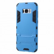 Υβριδική Θήκη Συνδυασμού Σιλικόνης TPU και Πλαστικού με Βάση Στήριξης για Samsung Galaxy S8 - Μπλε