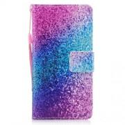 Δερμάτινη Θήκη Πορτοφόλι με Βάση Στήριξης για Samsung Galaxy A5 (2017) - Ροζ και Μπλε Αποχρώσεις