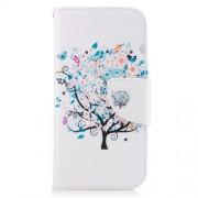 Δερμάτινη Θήκη Πορτοφόλι με Βάση Στήριξης για Samsung Galaxy A3 (2017) - Ανθισμένο Δέντρο με Πεταλούδες