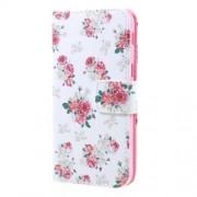 Δερμάτινη Θήκη Πορτοφόλι με Βάση Στήριξης για Samsung Galaxy A3 (2017) - Μπουκέτα Τριαντάφυλλα