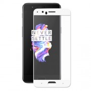 HAT PRINCE 0.26mm 9H Complete Coverage Tempered Glass Screen Protector (2.5D Arc Edge) for OnePlus 5 - White