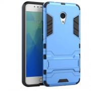 Υβριδική Θήκη Συνδυασμού Σιλικόνης TPU και Πλαστικού με Βάση Στήριξης για Meizu M5s - Μπλε