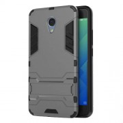 Solid PC + TPU Hybrid Shell Case with Kickstand for Meizu m5 Note - Grey