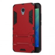 Solid PC + TPU Hybrid Case Cover with Kickstand for Meizu m5 Note - Red