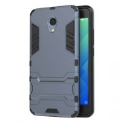 Solid PC + TPU Hybrid Protective Case with Kickstand for Meizu m5 Note - Dark Blue