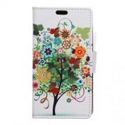 Δερμάτινη Θήκη Πορτοφόλι με Βάση Στήριξης για Xiaomi Redmi 4X - Πολύχρωμο Δέντρο με Φρούτα