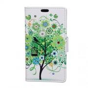 Δερμάτινη Θήκη Πορτοφόλι με Βάση Στήριξης για Xiaomi Redmi 4X - Πράσινο Δέντρο
