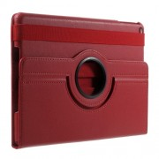 360 Degree Rotary Stand Litchi Skin Leather Flip Case for iPad 9.7 (2017) / 9.7 (2018) - Red
