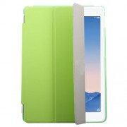 Green Tri-fold Single Front Leather Smart Cover + Back PC Shell for iPad Air 2