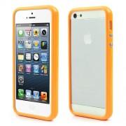 Θήκη Bumper Σιλικόνης TPU και Πλαστικό για iPhone 5 5s - Πορτοκαλί