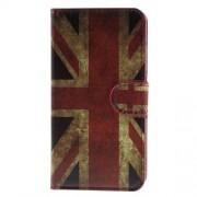 Δερμάτινη Θήκη Πορτοφόλι με Βάση Στήριξης για Samsung Galaxy J3 / J3 (2016) - Αγγλική Σημαία