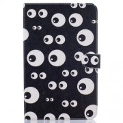 Patterned Leather Case for Samsung Galaxy Tab E 9.6 T560 - Adorable Eyes