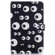 Δερμάτινη Θήκη Πορτοφόλι με Βάση Στήριξης για Samsung Galaxy Tab E 9.6 T560 - Πονηρά Μάτια